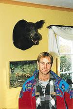 De vildsvin Peter fick se satt tyvärr på väggen i mitt hem.