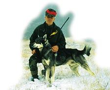 Bert Mårtensson, yrkesjägare på deltid tillsammans med jämten Smocken. Bert jagar i stort sett alla dagar under hösten. Guidad älgjakt är huvudnumret i jaktguideföretaget i Backe i Jämtland.