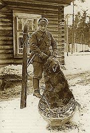 Den här björnen sköt sergeant Toivo Tuunainen i början av april i Vitele år 1943.