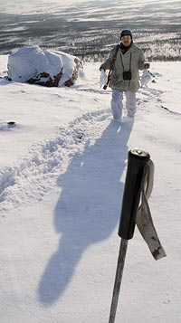 Skidstaven fungerar ibland utmärkt som skjutstöd när oväntade skottillfällen dyker upp.