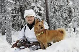 Berit Nordin, Åsele, med sin välmeriterade finnspetstik Katahahaan Jurla.