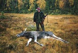 Glänsande svart gled den knubbiga fyrtaggaren ut ur skogen och över myren där Marcus Hansson, Håcksvik, hade fått pass. Sedan kom den inte längre.