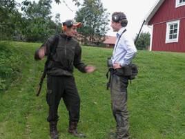 Philip Wetterlund och Pierre Norberg är två entusiastiska smygjägare