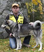Årets SM-vinnare, Tyr, ägare Henrik Hallgren, Ekshärad
