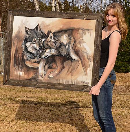"""I serien """"Gorgeous Nature"""" vill My förmedla sin bild av vargen genom penseldrag."""