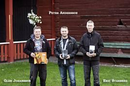Årets medaljörer vid Laikamästerskapet på älg.