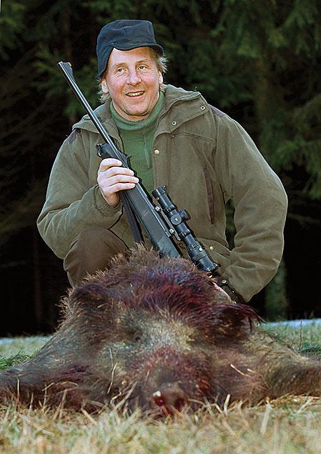 Älgjägaren Mikael Eriksson, Lit, gjorde inget misstag när han sköt sitt första vildsvin.