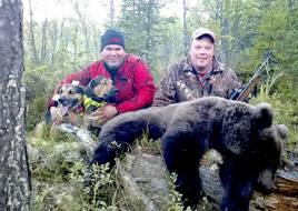 Daniel Birgerssons duktiga hundar såg till att Olle Olsson fick skjuta sin första björn efter ett snabbt drev. Foto: Tony Olsson.