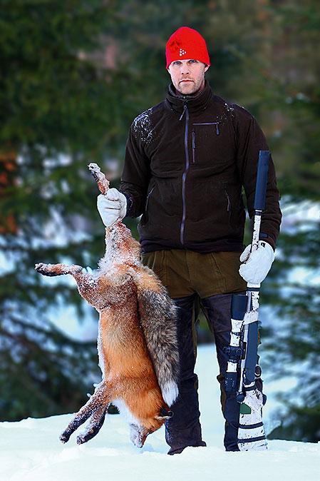 Christer Stöök har hittat sin jaktform. Rävarna runt Hammarstrand lever farligt.