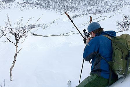 De enda svenska jägare som brukar behöva tampas med korrektion för höjdvinklar  är vinterns ripjägare.