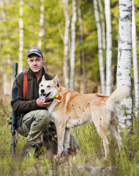 Rasmus Nyman och Tyson är ett riktigt radarpar i jaktskogen.