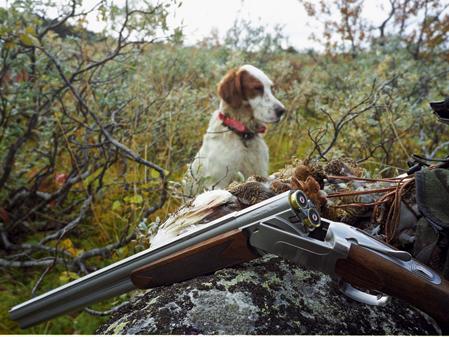 En bild från ripjakten 2004 med blyhagelpatroner i geväret. Förbudet från 2005 är endast politiskt motiverat.