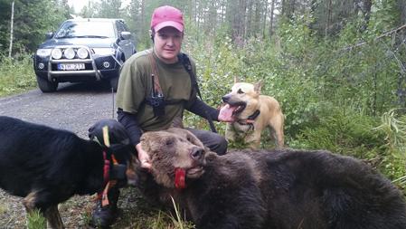 I fredags fällde Stefan Svärd en fin hanbjörn i Ringsta utanför Lit i Jämtland.