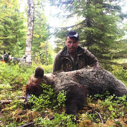 Lars Wikström, Risbäck, lyckades fälla björnen på ståndskall.