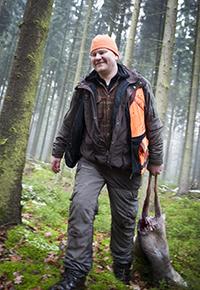 Jägaren Jimmie Mårtensson tycker att dödshot ska tas på största allvar. Foto: Per Jonson