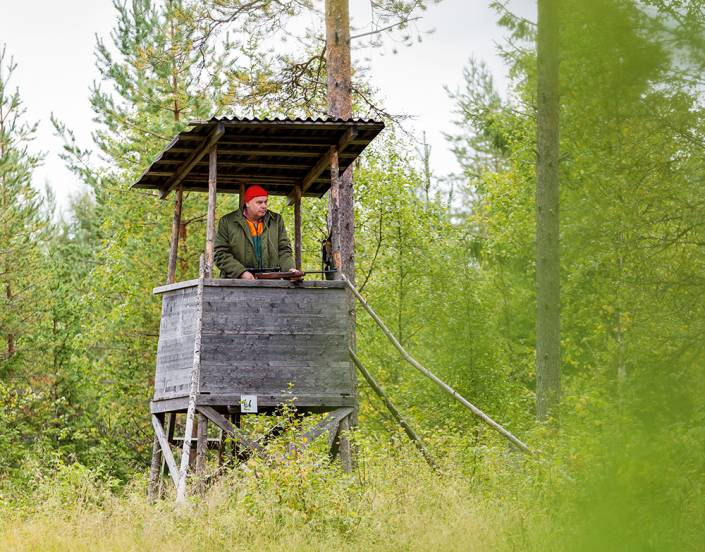 Jonas Lindgren tillhör dem som fick nöjet att skjuta en älg i premiärsåten.