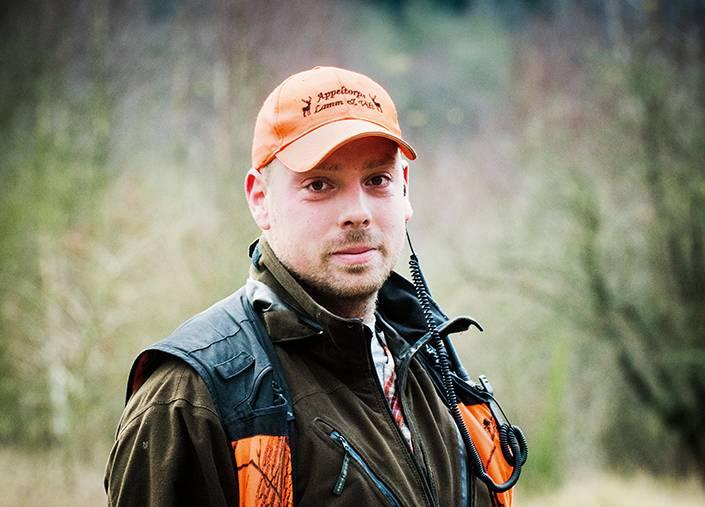 Johan Helmersson, en luttrad skånsk vildsvinsjägare.