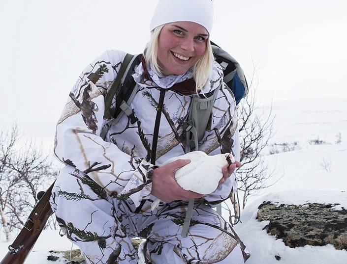Frida Abramsson fick några fina timmar på fjället under en lucka i blåsten och snöandet.