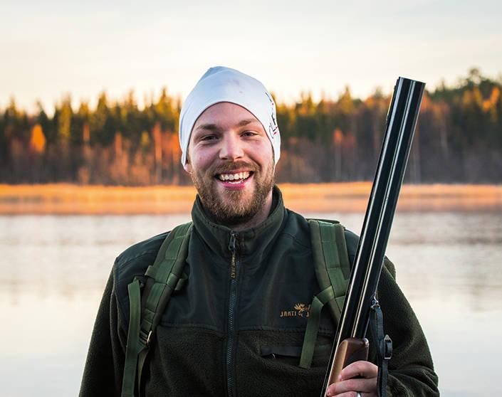 Johan Nordström är spänd inför jakten.