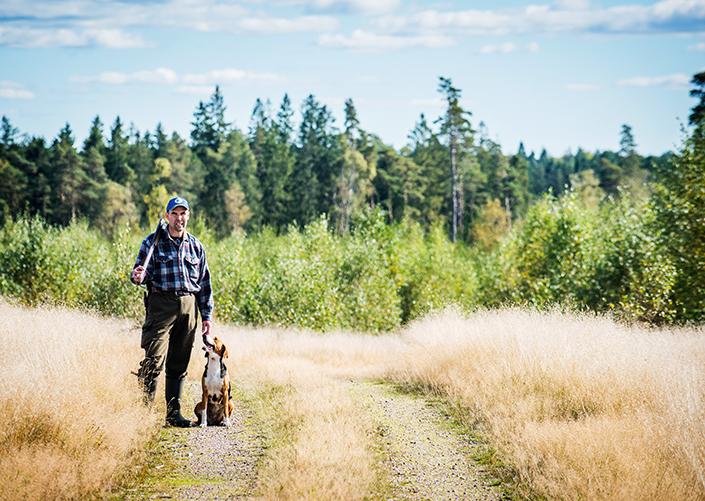 Göingebygdens Driva och Magnus Jönsson är ett bra team i rävskogen.