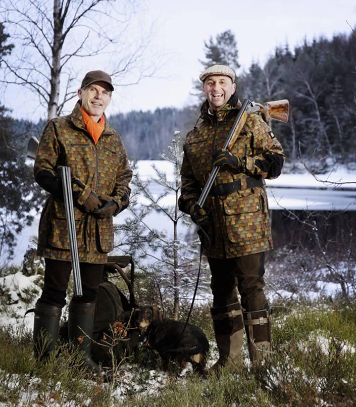 Affären är klar. Magnus Apler säljer Woodline till Jaktia, här med VD Lars Martinsson.