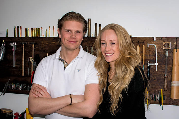 Entreprenörerna bakom företaget: Daniel Sköld och Paula Lindgren.