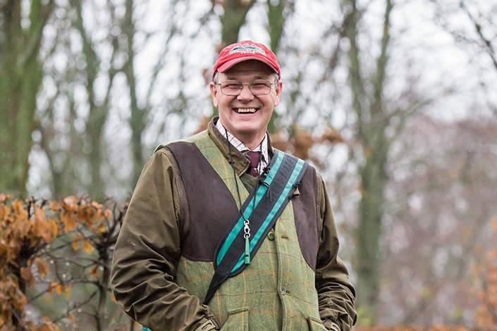 Jan Wiberg är välkommen som hundförare på många sydsvenska fågeljakter.