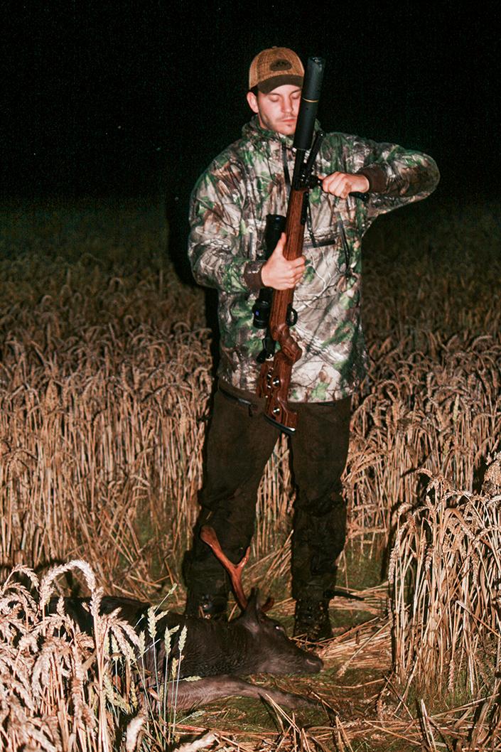 Dagens jakt resulterade i en stånghjort, helt i enlighet med Jens förvaltningsidé.